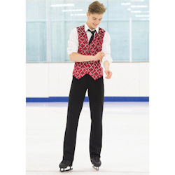 Mens Red Chainmail Ice Skating Vest (832)