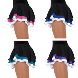Ladies Triple Ribbon Ice Skating Skirt